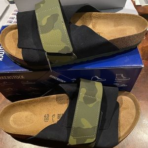 Birkenstock Kyoto black/camo 10 medium men's new
